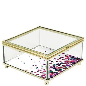 Trina Turk Dots Glass Trinket Box